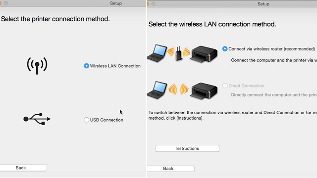 Step 6 - Continue with wireless connection installation