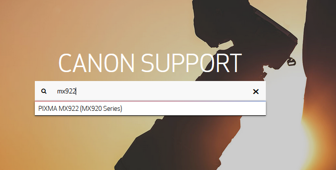 step 4 - Go to Canon printer support site