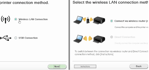 step 5 - Select a connection type