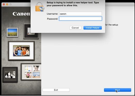 step 5 - enter your device username and password to allow installa