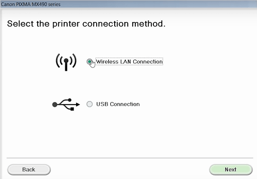 step 6 - Select Wireless connection type