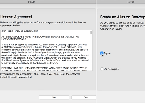 step 8 - accpet license agreement and create manual