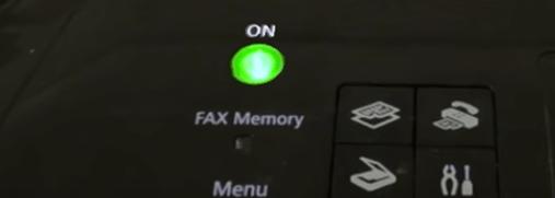 turn on the canon printer